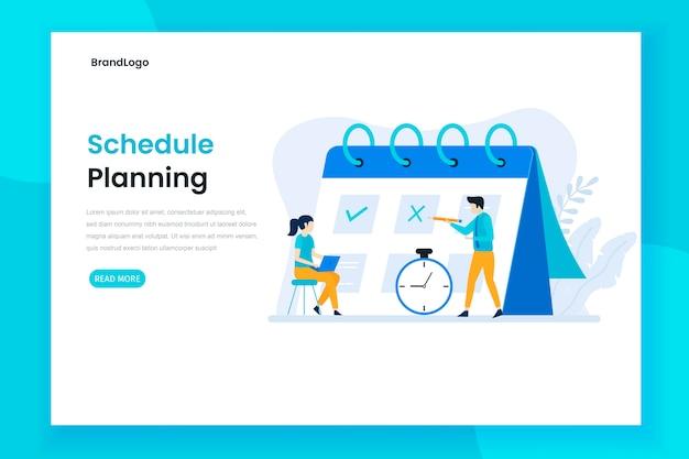 Calendrier de planification ou concept de page de destination de gestion du temps