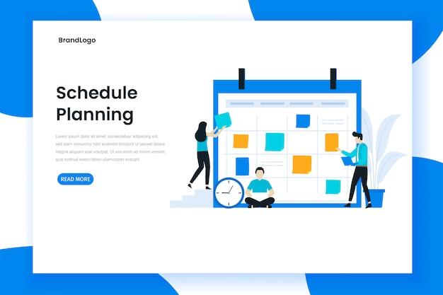 Calendrier de planification de la page de destination