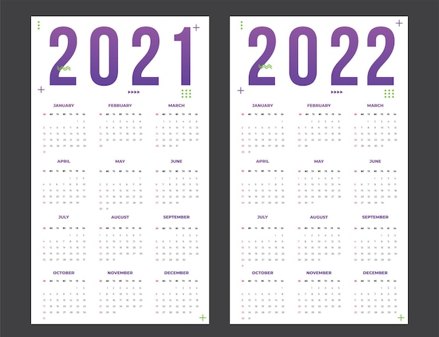 Calendrier pour 20212022