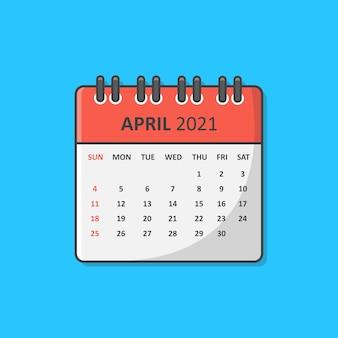 Calendrier pour l'année 2021.