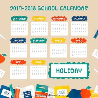 Calendrier scolaire amusant 2017