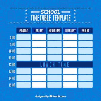 Calendrier scolaire bleu