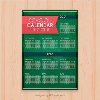Calendrier scolaire vert