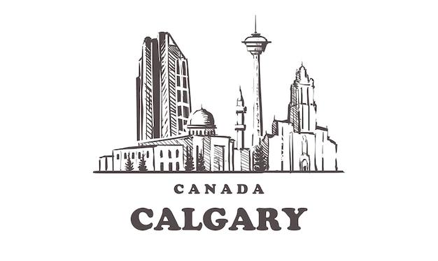 Calgary dessiné à la main, canada