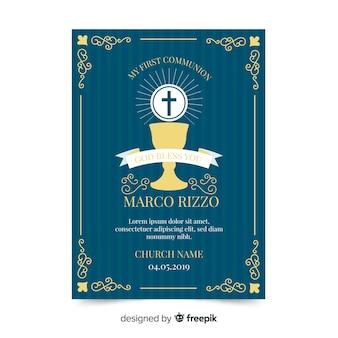 Calice plat première invitation de communion