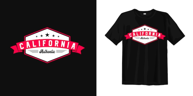 Californie authentique vintage pour la conception de t-shirt imprimé