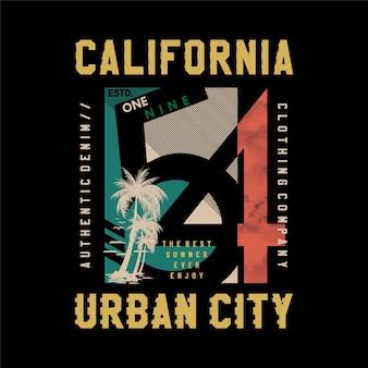 Californie, t-shirts de conception graphique d'été de ville urbaine
