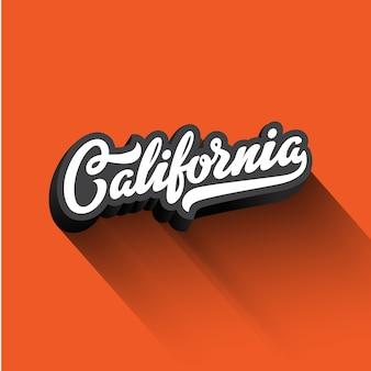 Californie texte calligraphie rétro vintage