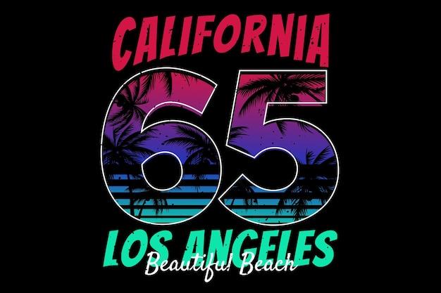 Californie typographie plage belle