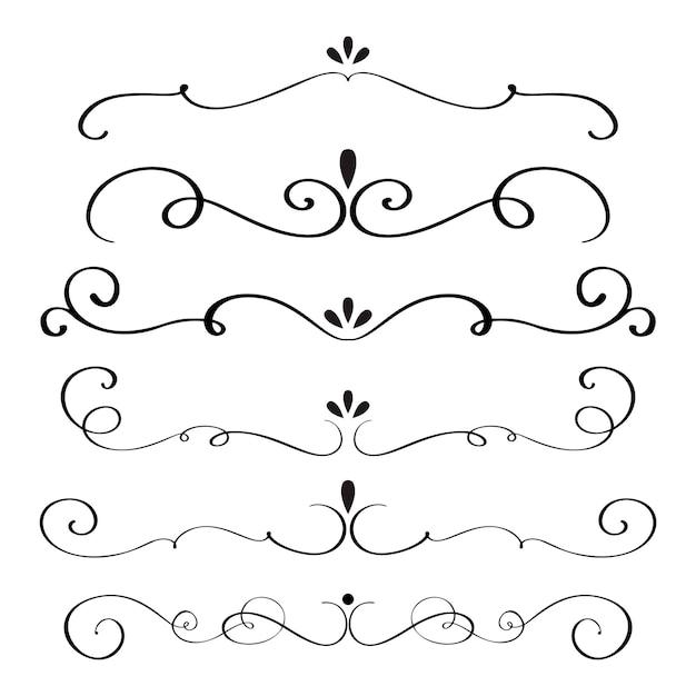 La calligraphie d'art s'épanouit de verticilles décoratifs vintage pour l'illustration vectorielle de conception