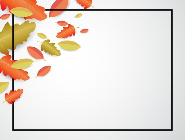 Calligraphie à l'automne illustrations vectorielles