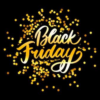 Calligraphie du vendredi noir