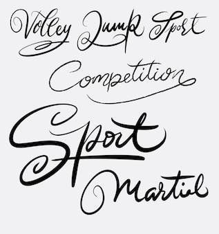 Calligraphie d'écriture manuscrite de compétition de sport martial