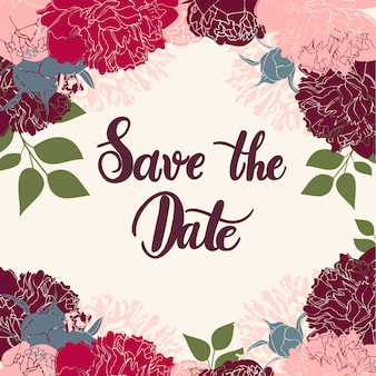Calligraphie moderne save the date.