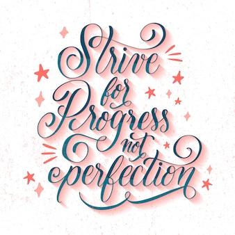 Calligraphie de motivation avec des étoiles