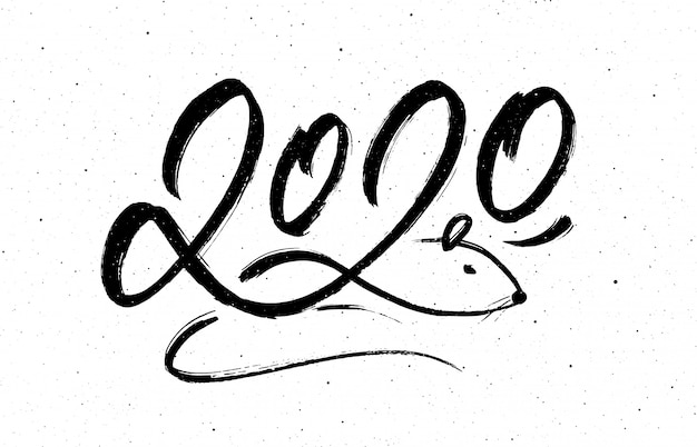 Calligraphie pour le nouvel an 2020 du rat