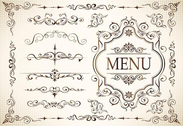 Calligraphie tourbillonne et motifs ornés