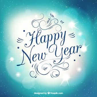 Calligraphique carte nouvel an