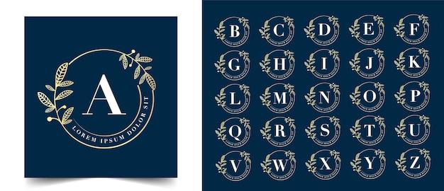 Calligraphique féminin floral beauté logo dessiné à la main monogramme héraldique antique style vintage design de luxe adapté pour hôtel restaurant café café spa salon de beauté boutique de luxe cosmétique