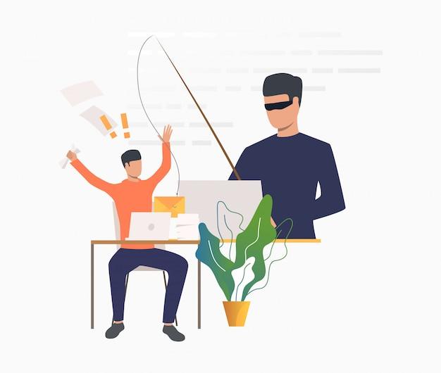 Cambrioleur piratage dans le serveur de messagerie de bureau