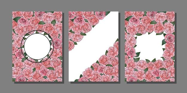 Camellia couvre les modèles de cartes de vœux