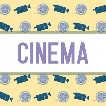 Caméra avec bande de motif de cinéma