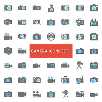 Caméra icon set