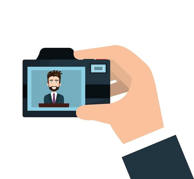 Caméra photographique isolé icône vector illustration design