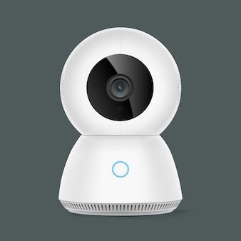 Caméra de sécurité ptz intelligente isolée sur fond gris