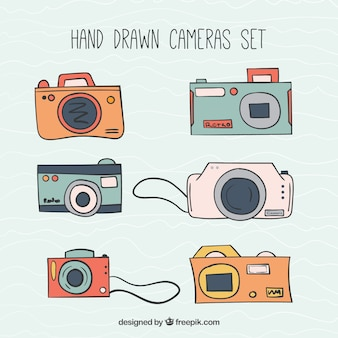 Caméras dessinés à la main pack