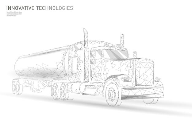 Camion américain. remorque commerciale de transport logistique.