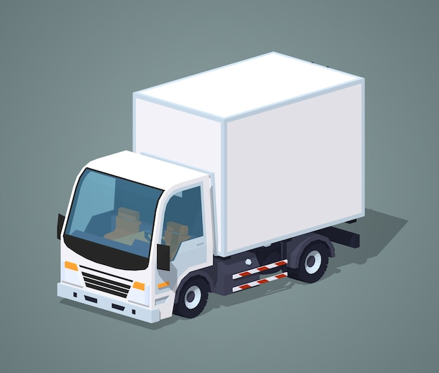 Camion cargo blanc