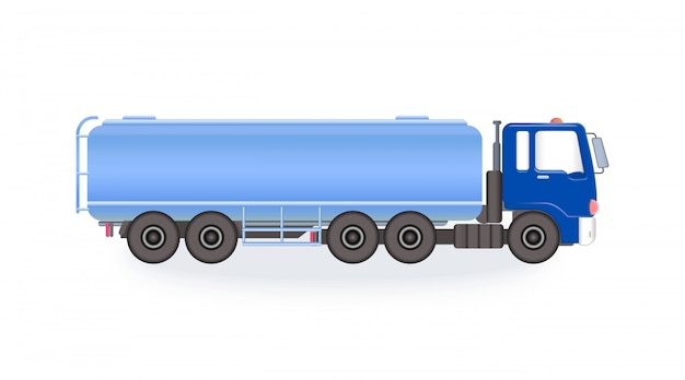 Camion-citerne bleu