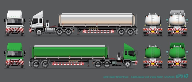 Camion-citerne de carburant semi-remorque.