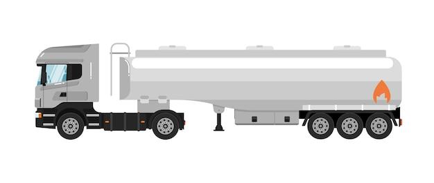 Camion-citerne isolé sur blanc