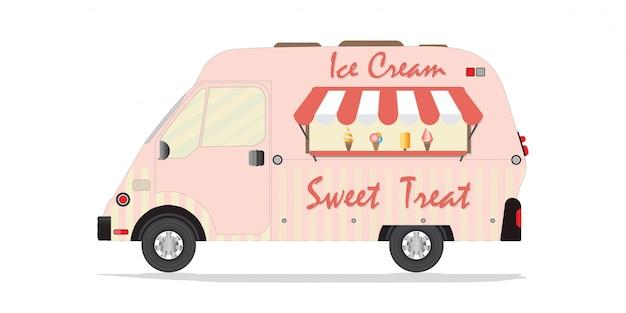 Camion de crème glacée.