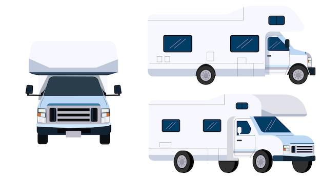 Camion de différentes perspectives isolées