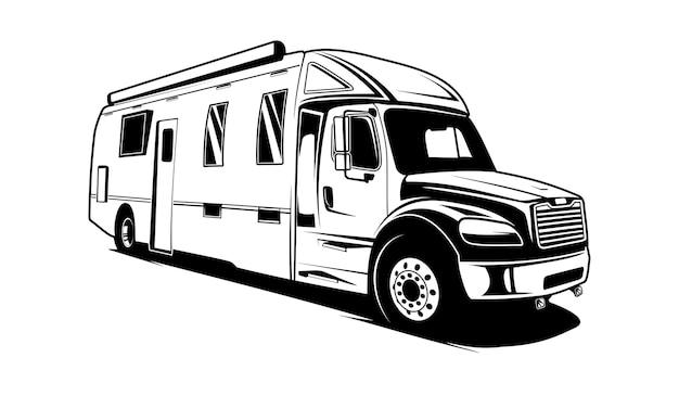 Camion fourgon silhoute