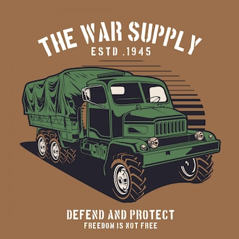 Camion de fournitures de guerre