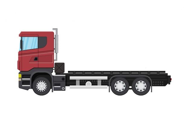 Camion de livraison de fret avec plate-forme