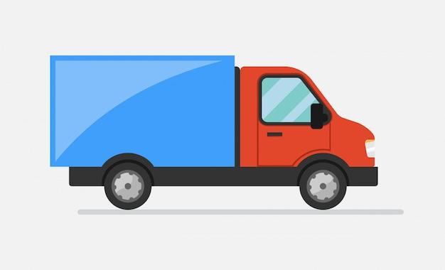 Camion de marchandises. icône plate