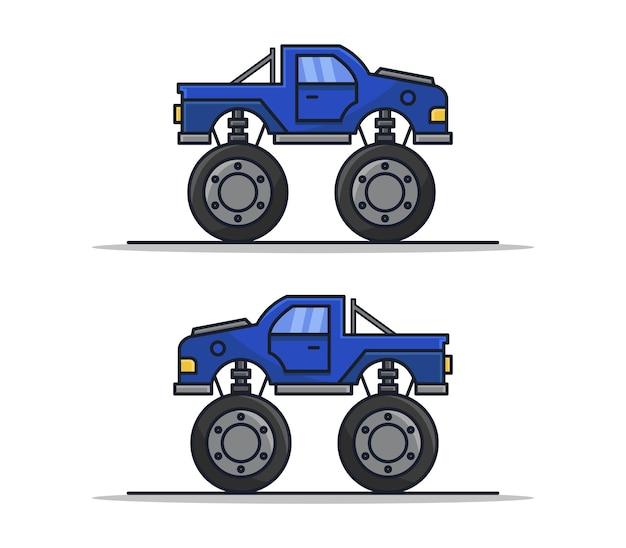 Camion monstre de dessin animé