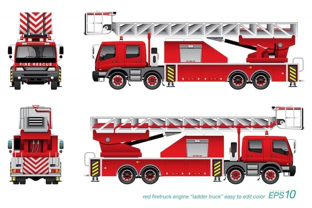 Camion de pompier avec échelle