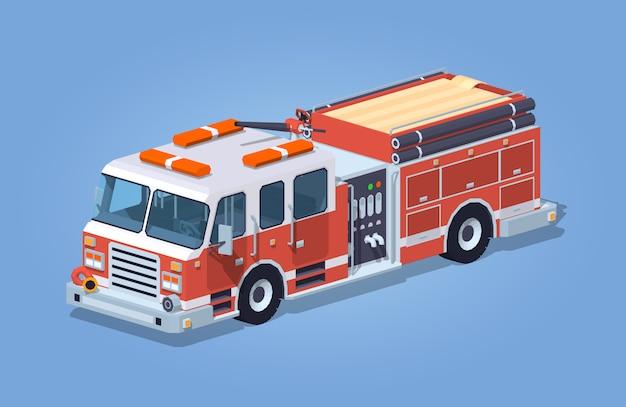 Camion de pompier low poly
