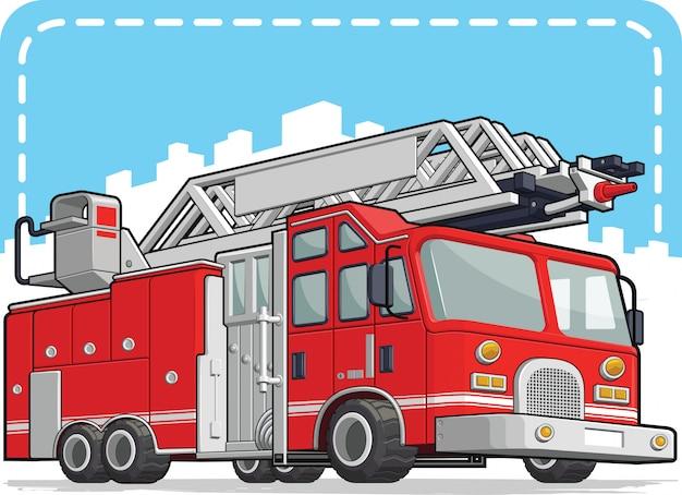 Camion de pompier rouge ou pompier