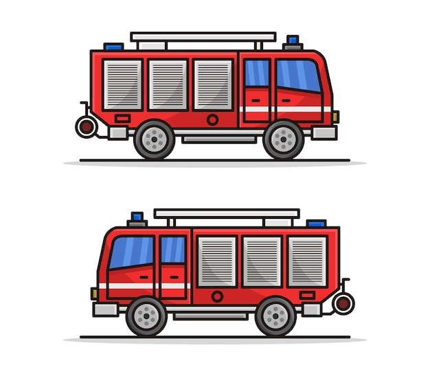 Camion de pompiers de dessin animé