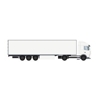 Camion porte-conteneur avec chambre froide