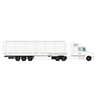 Camion porte-conteneur avec citerne.
