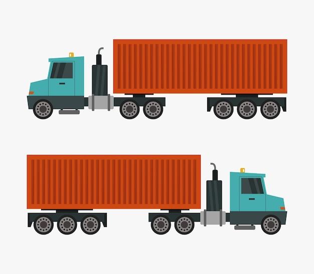 Camion porte-conteneurs