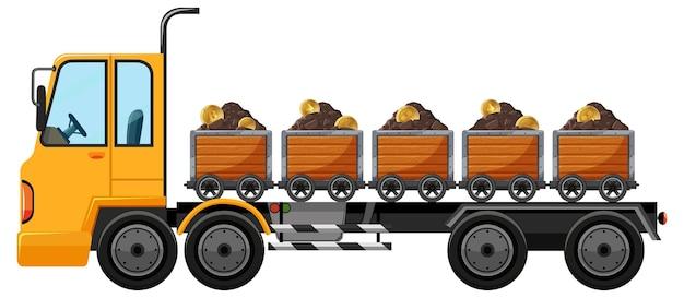 Camion de remorquage sur blanc